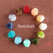 マーブルビーズ♪オクタゴン♪12色♪10個 /beads558