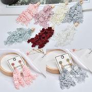 新品♪ピアス用 編み物アクセサリーパーツ