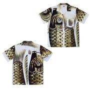 日本製 made in japanアロハシャツ 黒 L 箔入 178135