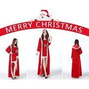 クリスマスイベントに!サンタ衣装セット フード付きアウター付き