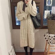 韓国 スタイル 秋 冬 ファッション ハングルセレブ ヴィンテージ ニット 編み織 セーター ワンピ