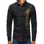 秋冬新作メンズ人気ワイシャツ トップス シンプル おしゃれ♪ブラック/ネイビー2色