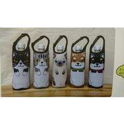 猫と柴犬のペットボトルホルダー