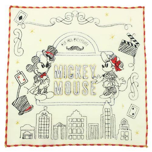 【ハンドタオル】ミッキー&ミニー 刺繍ハンドタオル/ロングアイランド