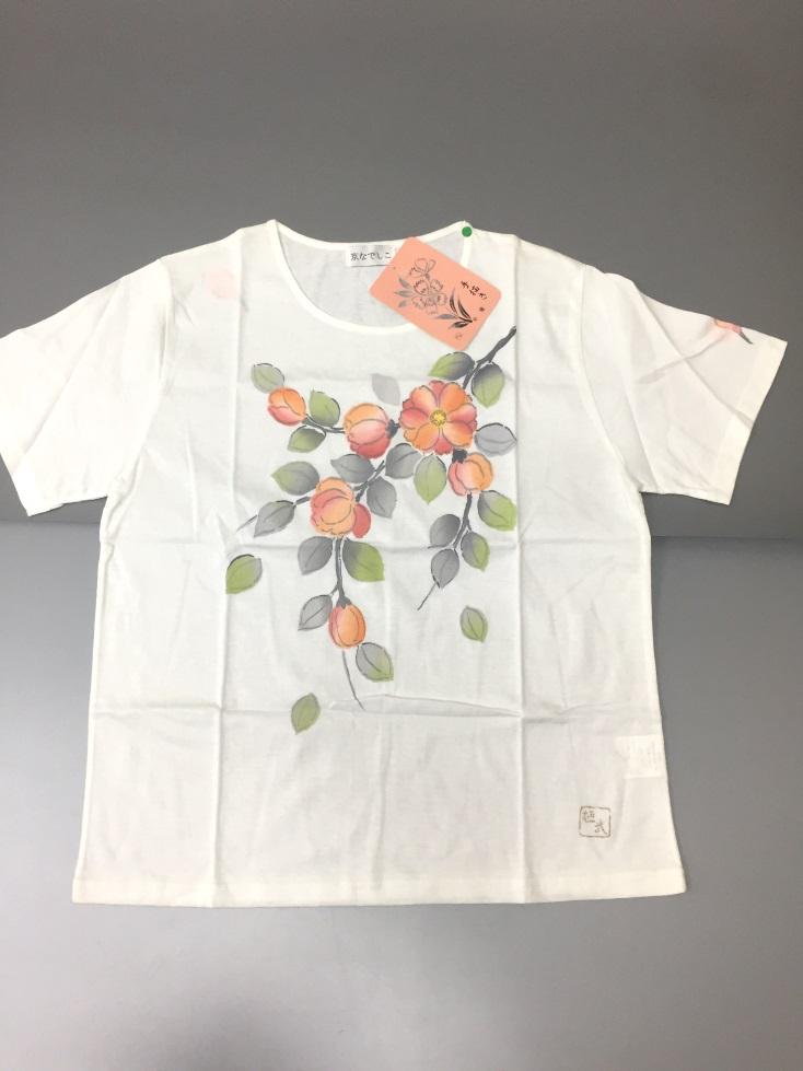 日本製 綿100%レディースTシャツ(手書き半袖&ハイネック無地7分袖)
