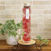 ハーバリウム丸瓶(円柱)ピンク 化粧箱付き