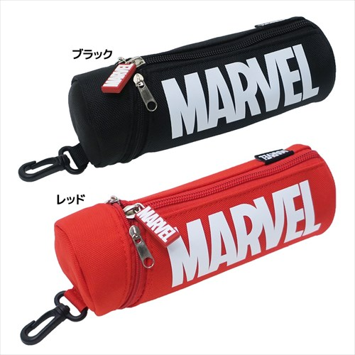 【ペンケース】MARVEL/円筒ペンケース/ロゴ