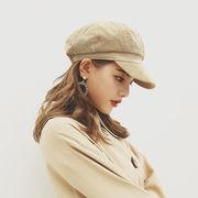 秋冬新発売 ベレー帽  レディース 帽子 可愛い 美しい 八角帽子