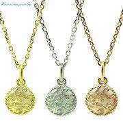 ハワイアンジュエリー ネックレス メダル イエローゴールド ピンクゴールド ステンレススチール インスタ