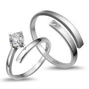 ペアリング シルバー925 リング 2点セット シルバー 男性/女性 マリッジリング 結婚指輪