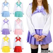 廉価版 長袖セーラー服 6color Mサイズ【コスプレ衣装 学生服 女子高生】