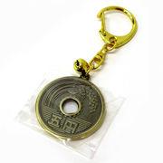 <和雑貨・和土産>和物コインキーホルダー 5円玉 No.303-470