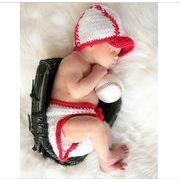 新発売★赤ちゃん★可愛い新作★個性的★手作り★写真の服★撮影★ハンドメイド野球