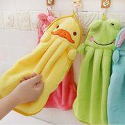 ハンドタオル ループタオル 柔らかい ループ付き 手の布を拭く 強い吸水性 洗面台