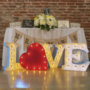 アメリカン雑貨 LOVE WITH HEART ライト 壁掛け ハート オブジェ