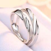 ペアリング シルバー 2点セット 純銀925 男性/女性 マリッジリング 結婚指輪