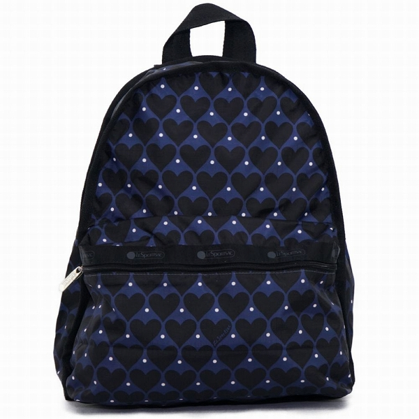 LeSportsac レスポートサック リュックサック Basic Backpack HOUSE OF HEARTS BLUE