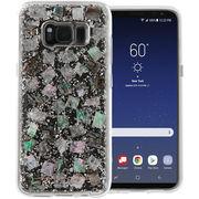 【ブランド】Galaxy S8+ SC-03J/SCV35 スマホ ケース ハード カバー 【キラキラ 真珠貝】 米軍用規格 ○