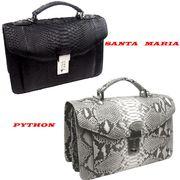 Santa Maria サンタマリア製 パイソン セカンドバッグ 蛇革 メンズ