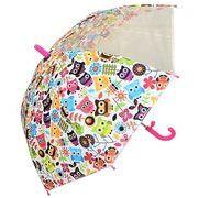 子どもが喜ぶキッズビニール傘 【ふくろう】 子ども傘 50cm