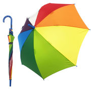 雨の日が楽しく♪元気になる傘 【レインボー ブルー】 子ども傘 55cm
