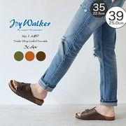 【joy walker】 レディースサイズ 重ねストラップ サンダル 3色