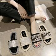 スリッパ サンダル シンプル キラキラ カジュアル INS 韓国ファッション レディース
