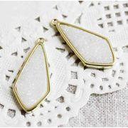 ドゥルージー GL枠ダイヤ型 ホワイト 3cm×1.3cm  品番: 10588