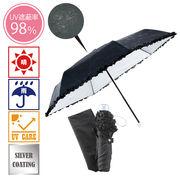 ドットフラワー 晴雨兼用折りたたみ傘
