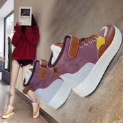 熏 靴 学生 超人気 冬 韓国風 裏起毛 レトロ カジュアルシューズ 女 ファッション