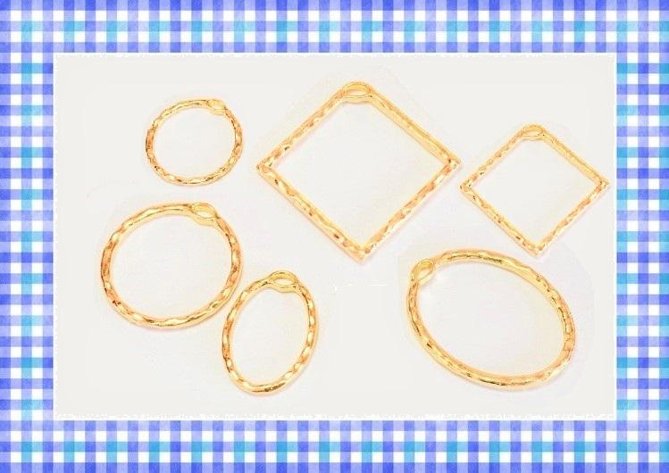 アンティークパーツ 幾何チャーム ラウンドパーツ 幾何パーツ ハンマー打ち風仕上げ 12円~