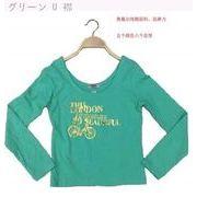 春 新しいデザイン コットン 弾性強い 女性用 長袖Tシャツ 着やせ プリント ボトム
