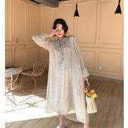 【春夏新作】ファッションワンピース♪アンズ/ブラック2色展開◆