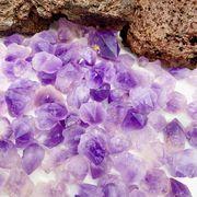 即納 期間限定セール 大人気な無染色  さざれ石   シリウスアメジスト  原石 10mm~30mm