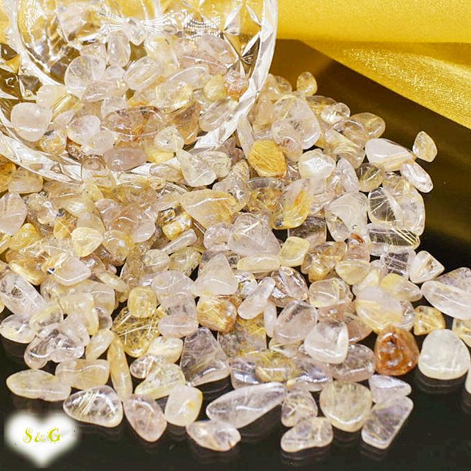 【即納 実物撮影】高品質 天然石 パワーストーン さざれ石 ルチル 浄化 クリスタル 水晶 サザレ
