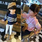 新しいデザイン 韓国風 秋服 小中児童 赤ちゃん セーター ニット ヘッジ 女児 丸襟