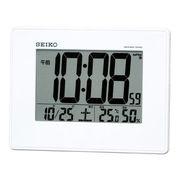 (クロック/ウォッチ)(目覚まし時計)セイコー 大画面電波デジタル目覚まし(白) SQ770W