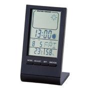 (クロック/ウォッチ)(ウェザー/カレンダー時計/温湿時計)ウェザースリムクロック 6148