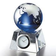 (ステーショナリー)グラスワークスナルミ ブルーアース デスククロック(S) GW1000-11050