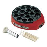 (キッチン)(卓上調理家電)カンタンタコ焼 柄入 油引・ピック付 KS-2528