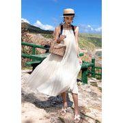 新作追加 高品質で 韓国ファッション ビーチスカート  ホリデースカート  女性  背透けて  ワンピース