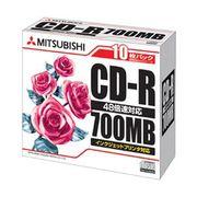 三菱化学メディア CD-R(Data)P-Cyanine SR80PP10 00054318