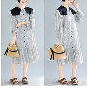 【春夏新作】ファッション/人気ワンピース♪ホワイト/ブラック2色展開◆