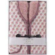 ジャカード織衿付きアクリルベスト ピンク WAB-501