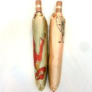 【日本製】【雨傘】【折りたたみ傘】日本製甲州産ホグシ織自転車柄軽量折傘