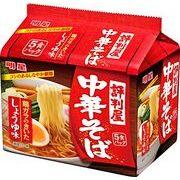 【3月末まで送料無料】明星 評判屋 中華そば しょうゆ味 5食パック