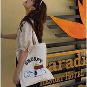シェルダーバッグ 帆布 エコバッグ キャンパス シンプル スヌーピー プリント 可愛い 韓国