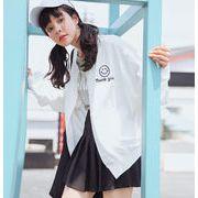 ジャケット アウター 春季新作 笑顔 刺繍 学生 韓国