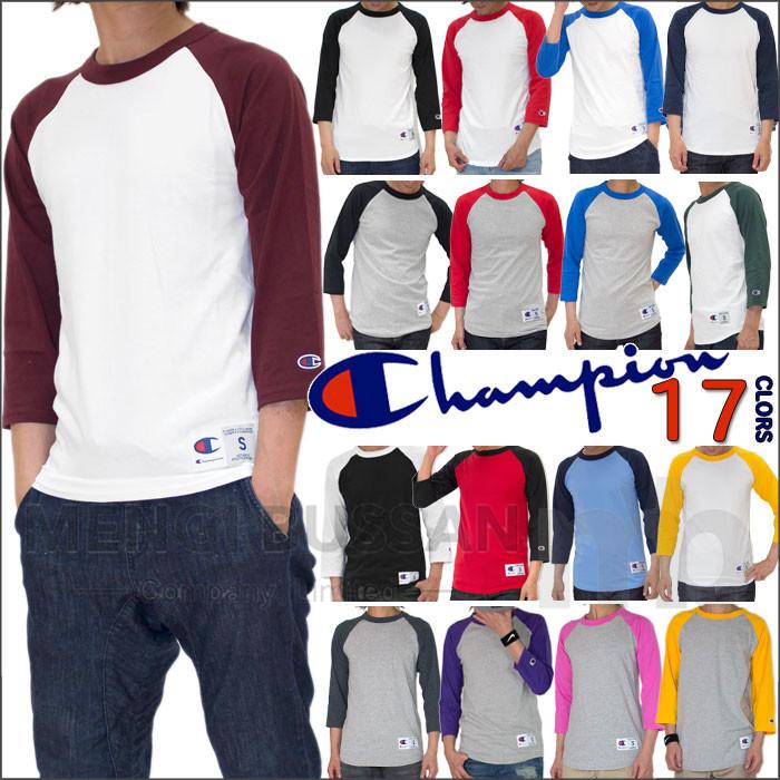 【定番】(チャンピオン-USA) 7分袖 ベースボール Tシャツ (CHAMPION-USA)