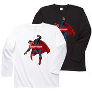ロンT【superman】メンズ レディース キッズ ジュニア 140cm 150cm 160cm スーパーマン Tシャツ